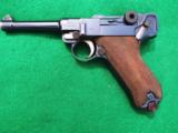 DWM IMPERIAL LUGER – COMBAT UNIT MARKED – COLLECTOR GRADE – WITH LEATHER- 2 of 10