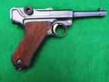 DWM IMPERIAL LUGER – MILITARY – COLLECTOR GRADE – MATCHING LEATHER - 1 of 9