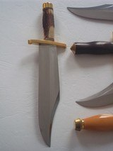 "RANDALL MODEL # 12-11"" SMITHSONIAN BOWIE BRASS HARDWARE, INDIA STAG HANDLE ORIGINAL H.H. HEISER BROWN LEATHER SCABBARD 1955 A RARITY IN TODAY' - 12 of 12"