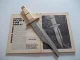 "HAROLD CORBY ""YENZER"" BOWIE SECOND MODEL EVER MADE AS SEEN IN ""THE GUN DIGEST BOOK OF KNIVES,"" 1973"