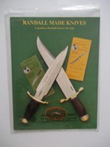 RANDALL MADE KNIVES LEGENDARY KNIFE CATALOG WITH RARE LIST OF UNSOLD KNIVES 1993 A RARITY - SIX ORIGINAL RKSA NEWSETTERS