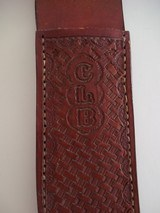 GLEN MARSHALL ONE-OF-A-KIND MARSHALL-LANG AWARD-1988 KNIFE BASKET WEAVE LEATHER SCABBARD UNIQUE PIECE! - 6 of 11