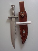 JEAN TANAZACQ RARE 1982/83 VINTAGE SURVIVAL KNIFE MODEL R1-THE RAREST OF ALL MODELS FROM THIS AMAZING MAKER - 4 of 13