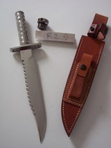JEAN TANAZACQ RARE 1982/83 VINTAGE SURVIVAL KNIFE MODEL R2-THE RAREST OF ALL MODELS FROM THIS AMAZING MAKER - 6 of 12