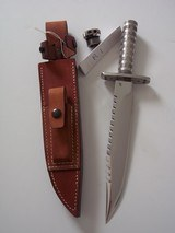 JEAN TANAZACQ RARE 1982/83 VINTAGE SURVIVAL KNIFE MODEL R1-THE RAREST OF ALL MODELS FROM THIS AMAZING MAKER - 6 of 11
