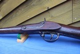 SPRINGFIELD MODEL 1822 FLINTLOCKCONVERSION FOR U.S. CIVIL WAR - CONFEDERATE MARKED - ORIGINAL CIVIL WAR USED REBEL RIFLE - 10 of 15