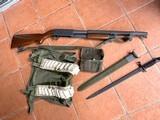 ithaca model 37 trench gun u.s. property with original bayonet