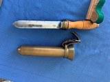 U . S . NAVY WW2 Divers Knife with BRASS Scabbard - 11 of 12