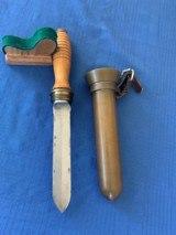 U . S . NAVY WW2 Divers Knife with BRASS Scabbard - 9 of 12