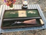 Lovely 12 Bore Charles Boswell Best London Hammer Shotgun in Original Leather Case