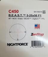 Nightforce BEAST 5-25x56 F1 MOAR w/ NF high rings