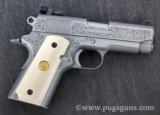 Colt 1911 Officers Model Engraved - 1 of 2