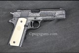 Colt 1911 Gold Cup National Match Fausto Galeazzi Full Coverage Engraving