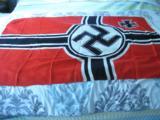 Pristine REICHSKRIEGS FLAG 80 X 135 LARENZ SUMMA SOHNE OBERKOTZAU
