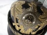 SUPER RARE PRUSSIAN GARDE REGIMENT ZU FUSS ,BLACK EAGLE EMBLEM, PICKLEHAUBE OFFICER HELMET,HOUSE OF HOHENZOLLERN - 12 of 17