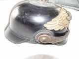 SUPER RARE PRUSSIAN GARDE REGIMENT ZU FUSS ,BLACK EAGLE EMBLEM, PICKLEHAUBE OFFICER HELMET,HOUSE OF HOHENZOLLERN - 6 of 17