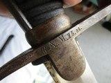 MODEL 1873 PRUSSIAN MACHINE GUN AND ARTILLARY SWORD & SCABBARD, UNIT MARKED, ABOVE GOOD