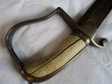 U.S. CAVALRY 1796 SABER, 13 STARS,WARRANTED, GOLD WASHED ,LIBERTY HAT ,PIKES,HORN, BLUED, IVORY GRIP, 31 INCHES - 9 of 15