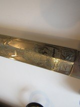 Rare ITALIAN KINGS HUSSARS SWORD FROSTY BLADE ,DOUBLE ETCHED,LANCERS BATTLE SCEAN,ROYAL CYPHER - 5 of 15