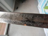Rare ITALIAN KINGS HUSSARS SWORD FROSTY BLADE ,DOUBLE ETCHED,LANCERS BATTLE SCEAN,ROYAL CYPHER - 15 of 15