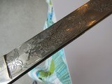 Rare ITALIAN KINGS HUSSARS SWORD FROSTY BLADE ,DOUBLE ETCHED,LANCERS BATTLE SCEAN,ROYAL CYPHER - 12 of 15