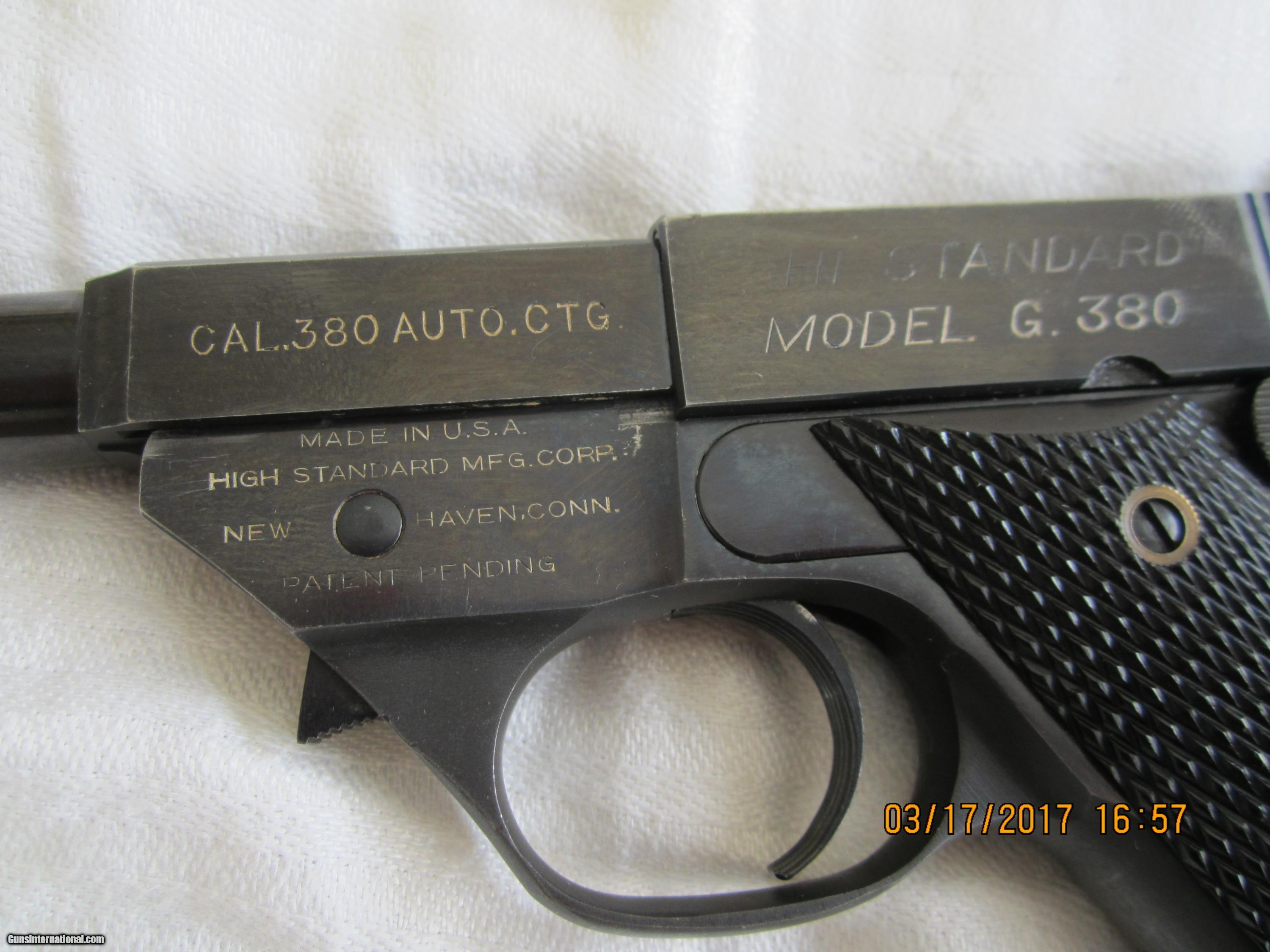 Hi Point 380 For Sale -  high standard model g 380 semi automatic pistol 3 of 15