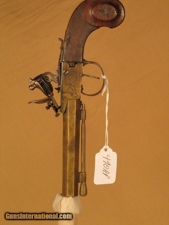 ENGRAVED FLINTLOCK 58 CAL. PISTOL