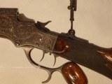 Stevens Model 51-44 Engraved Rifle - 3 of 10