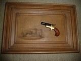 """Colt 22 Derringer on Plaque """"The Daring Days of the Deringer"""" Original"""