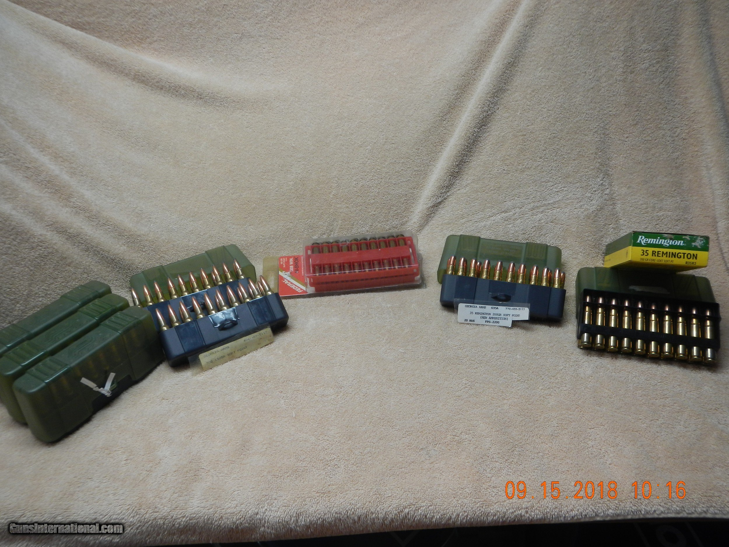 308 Winchester and  35 Remington Ammunition
