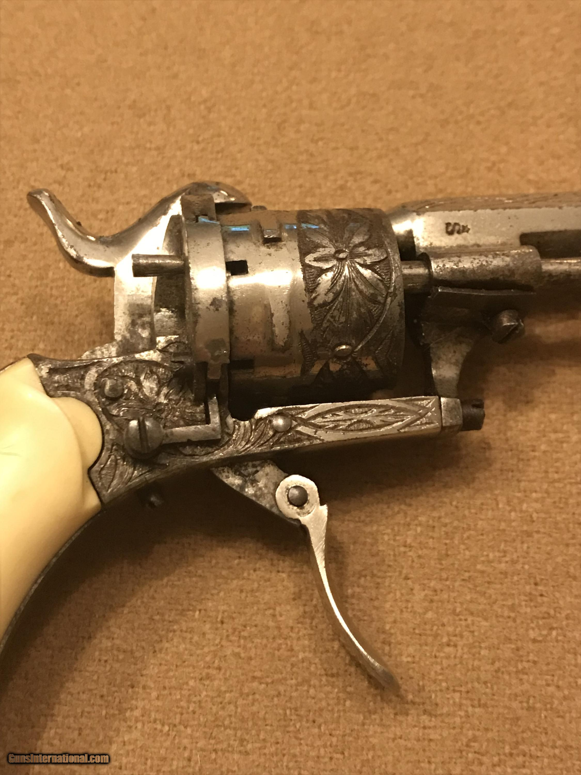 French Pinfire 8mm Revolver For Sale