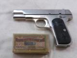 Colt Model 1903 Pocket Hammerless In Factory Nickel Finish - 1 of 10