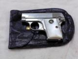 Colt Model 1908 25 A.C.P. In Factory Nickel Finish And Pearl Grips