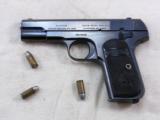 Colt Model 1903 Hammerless 32 A.C.P. 1916 Production