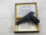 Colt Model 1903 Pocket Hammerless 1920 Production With Reproduction Box