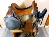 U.S. Army Artillery Model 1904 Mc Clellan Saddle As Complete For Mounted Artilleryman