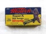 Western Ammunition Co. Super X Bear Box In 303 Savage