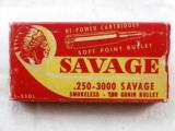 Savage Arms Co. 250.3000 Savage Box With Indian Head