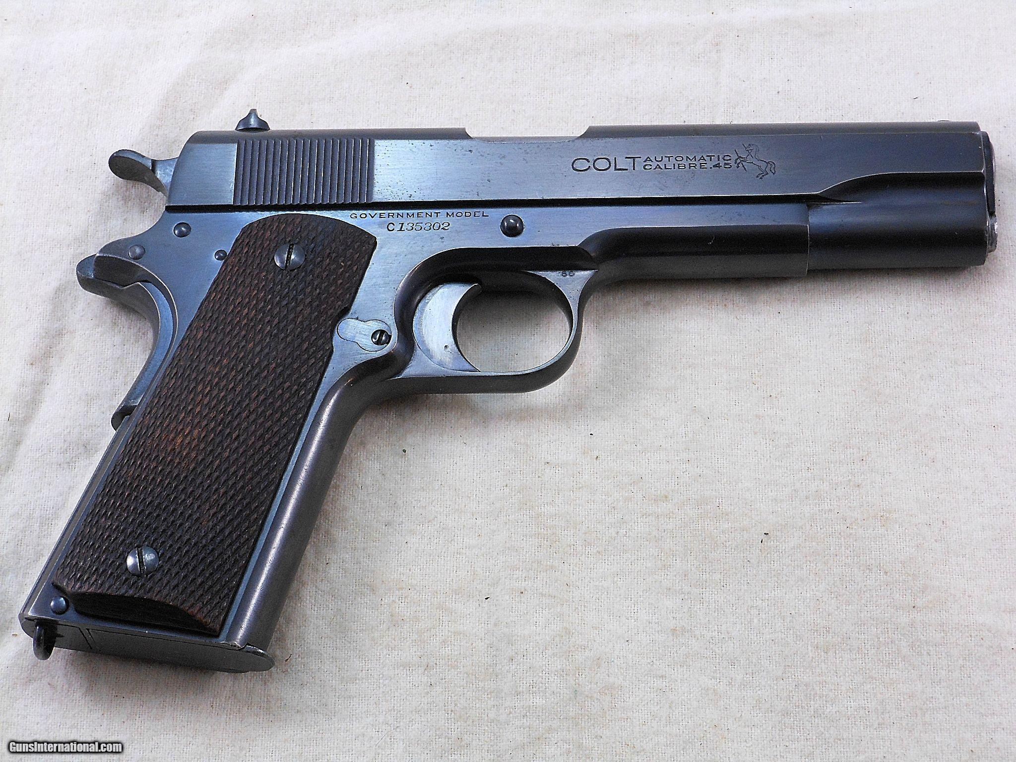Colt Civilian Model 1911 45 A.C.P. Transition Pistol 1924 Production