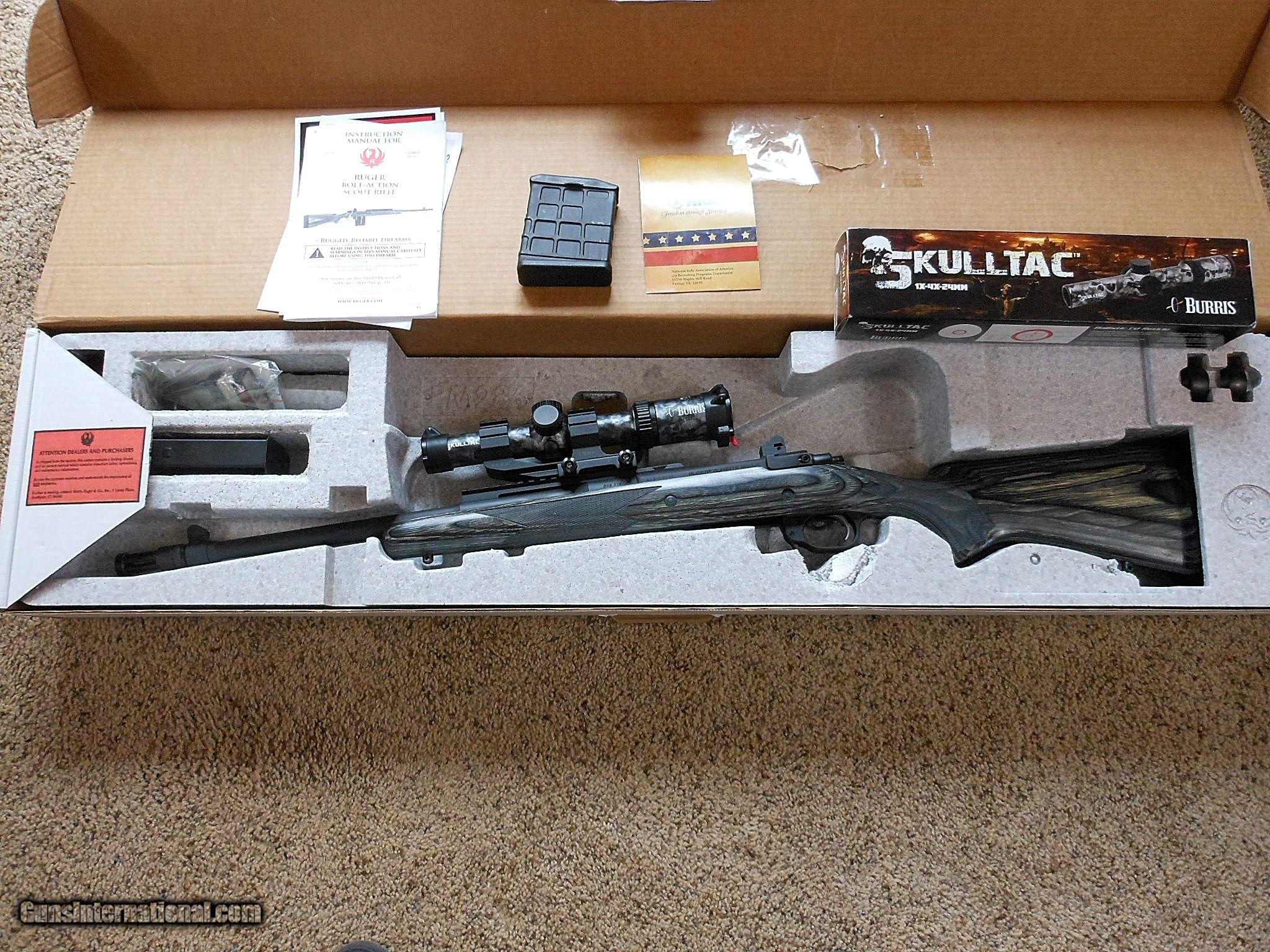 Ruger Model 77 Scout With Box, Papers And Accessories