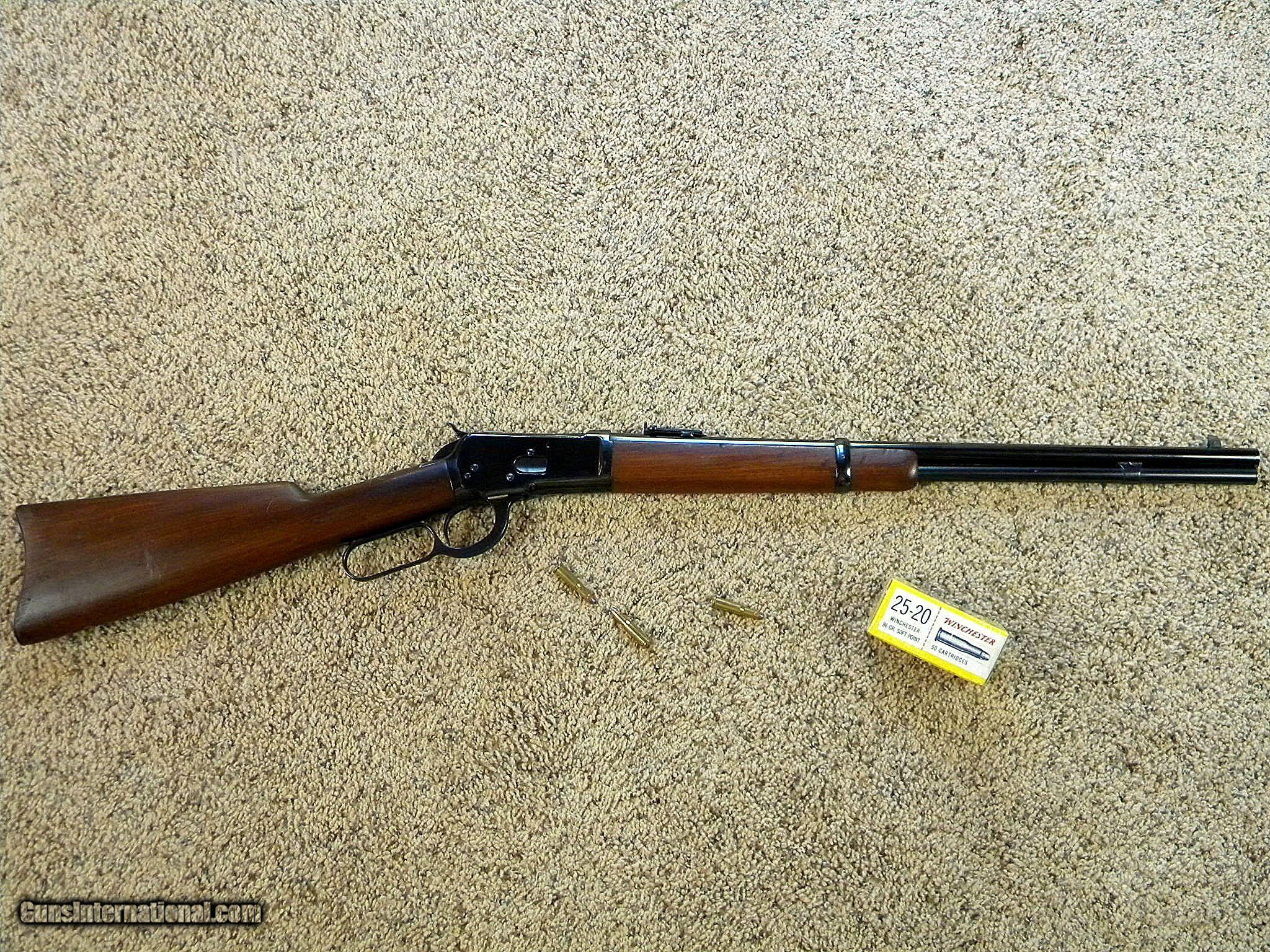 winchester model 1892 saddle ring carbine in 25 20 w c f