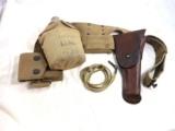 World War One Complete Pistol Belt Rig For 1911 Pistols