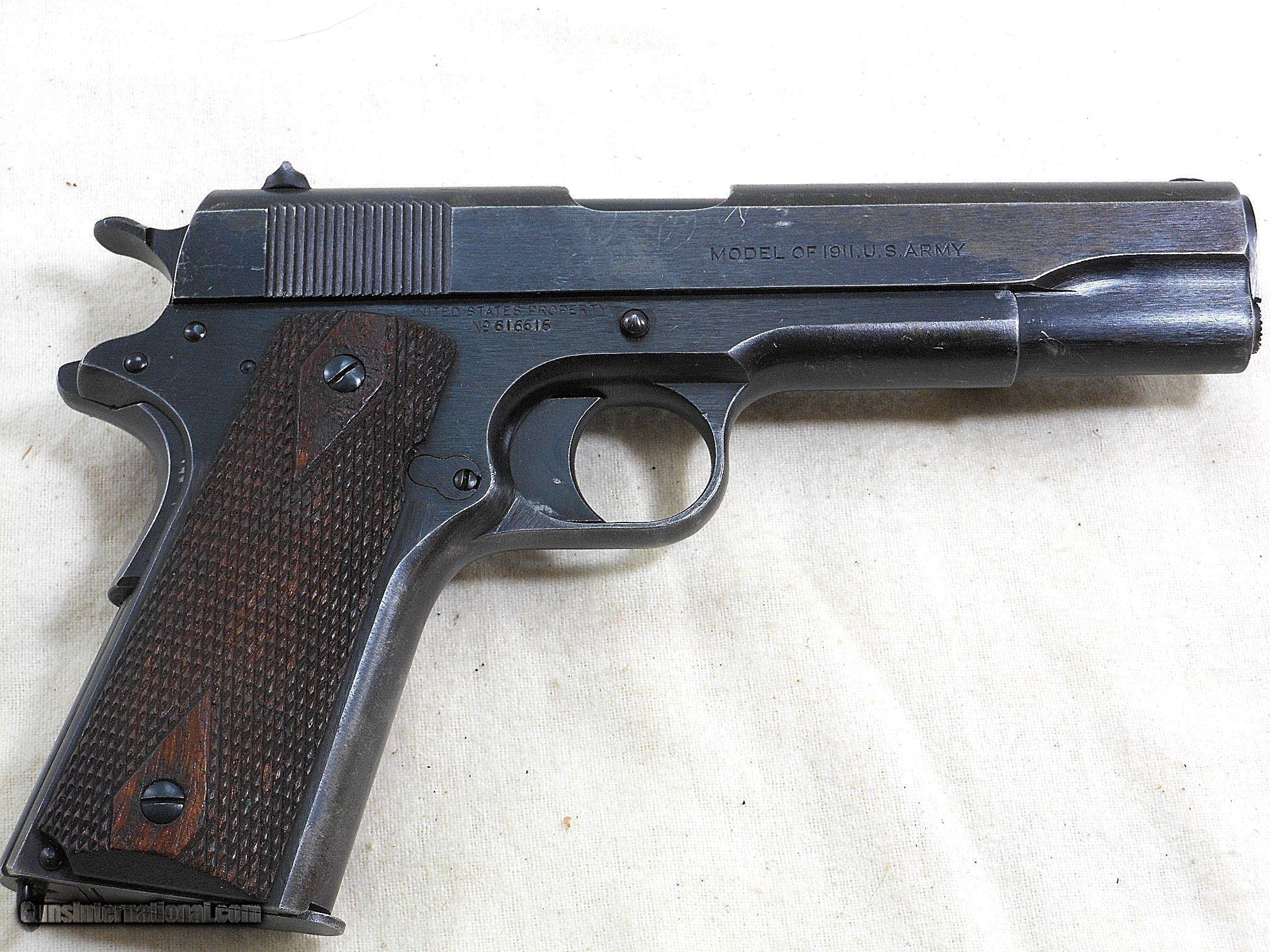 Colt Model 1911 U S  Army 1919 Production Service Pistol