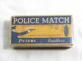 Peters Cartridge Co. Police Match 45 A.C.P. With Policeman And Target