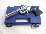 Colt Python In High Polish Bright Nickel Finish With Blue Plastic Box