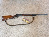 Winchester Model 71 Early Deluxe Rifle With Bolt Peep Sight