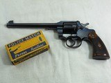 Colt Officers Model Target In 38 Special With Early 7 1/2 Inch Barrel