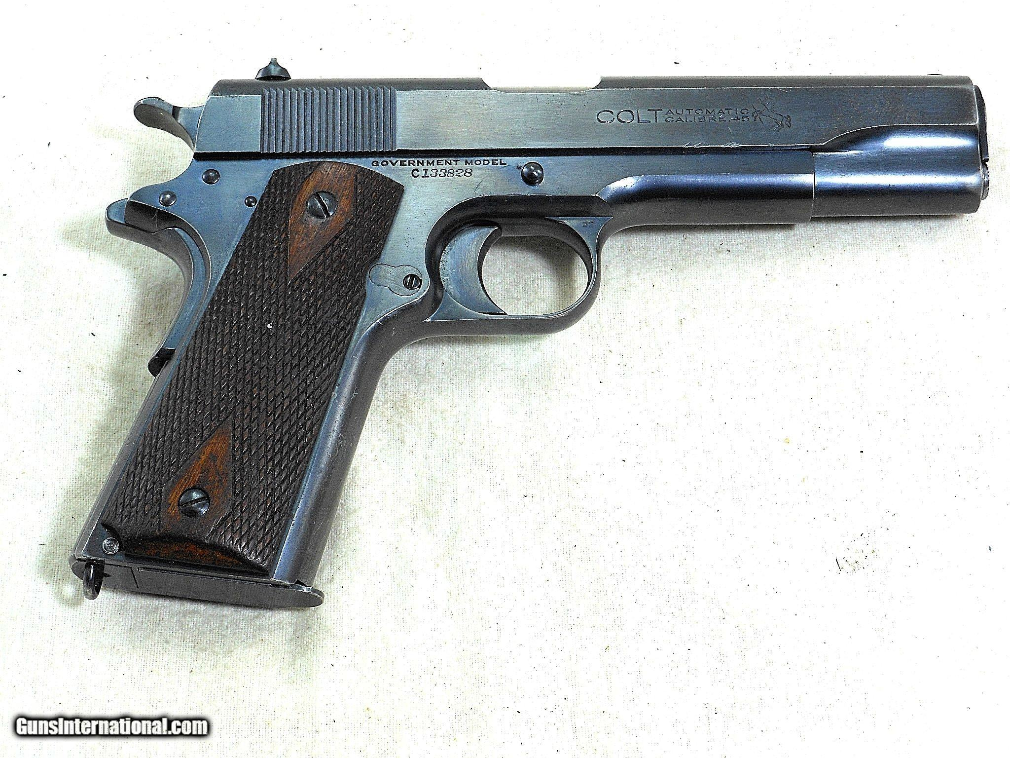 Colt Model 1911 Civilian With Original Box And Accessories 1922
