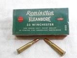Remington Kleanbore Green Box For 33 Winchester 1886 Rifles