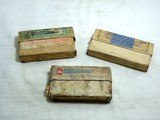 Three Boxes Consisting Of Winchester Early 30 W.C.F., Remington 30 Army Blanks And Remington - UMC Co. 25-36 Marlin